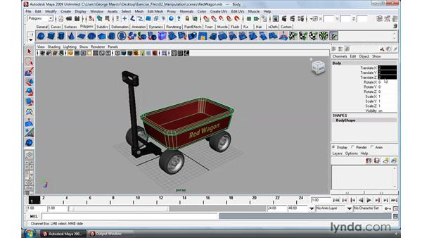 Using the Move tool: Maya 2009 Essential Training