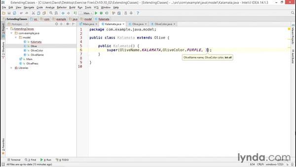 Extending classes and overriding methods: Java Essential Training