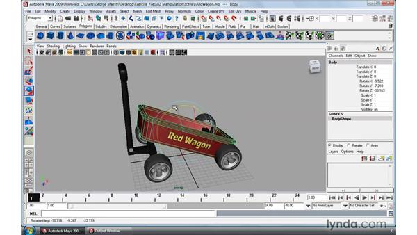 Rotating and scaling: Maya 2009 Essential Training