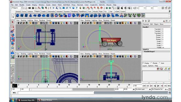 Manipulating pivots: Maya 2009 Essential Training