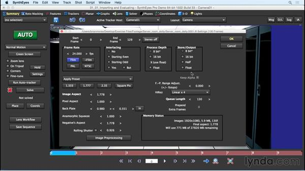 Importing and evaluating footage: SynthEyes Essential Training