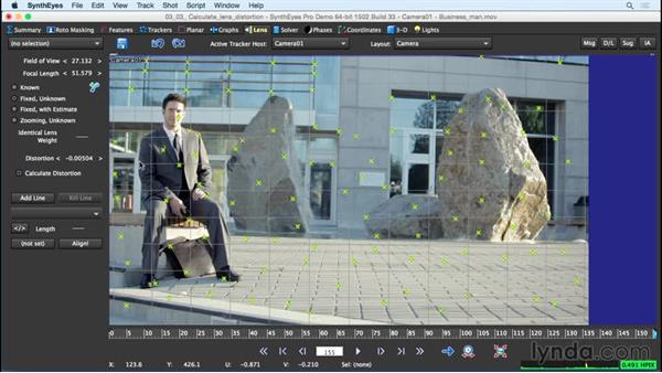 Using Calculate Lens Distortion: SynthEyes Essential Training