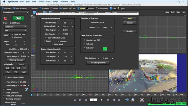 Adding many trackers: SynthEyes Essential Training