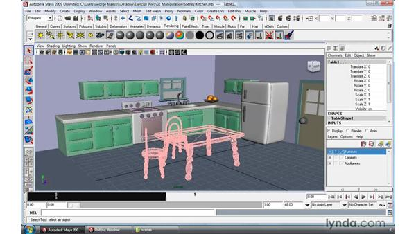 Creating layers: Maya 2009 Essential Training
