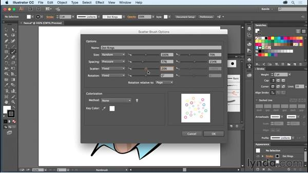 Creating custom art with the Scatter brush: Using Wacom Tablets with Illustrator