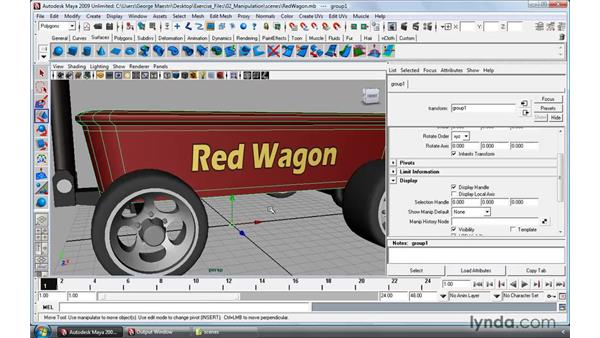 Working with selection masks: Maya 2009 Essential Training