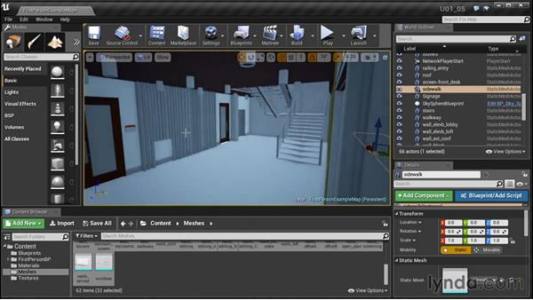 Cloning and placing objects: Unreal Engine: Architectural Visualization
