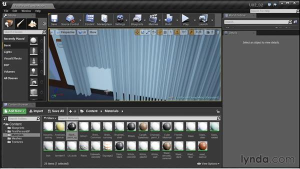 Creating paint sheens: Unreal Engine: Architectural Visualization