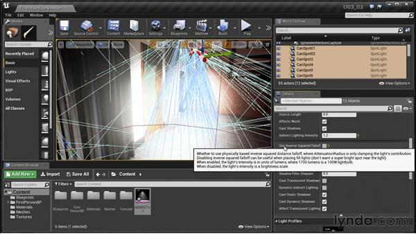 Using IES profiles to shape lights: Unreal Engine: Architectural Visualization