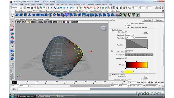 Using Soft Select and Paint Select: Maya 2009 Essential Training