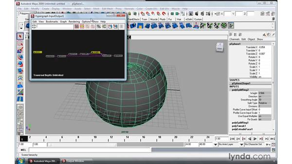 Working with object history: Maya 2009 Essential Training