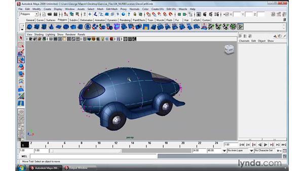 Introducing NURBS modeling: Maya 2009 Essential Training