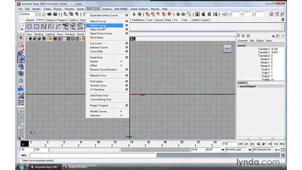 Refining NURBS curves : Maya 2009 Essential Training