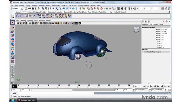 Using NURBS Revolve: Maya 2009 Essential Training