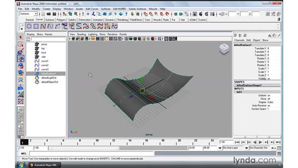 Using NURBS Loft: Maya 2009 Essential Training