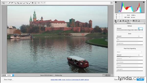 Adding and removing haze: Adobe Camera Raw Essential Training