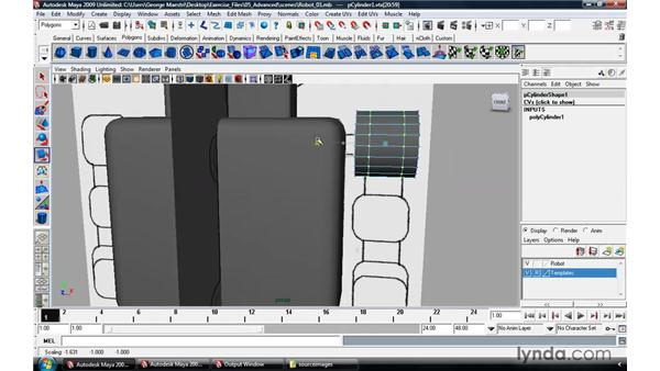 Modeling a robot pt. 2: Arms, legs, and feet: Maya 2009 Essential Training