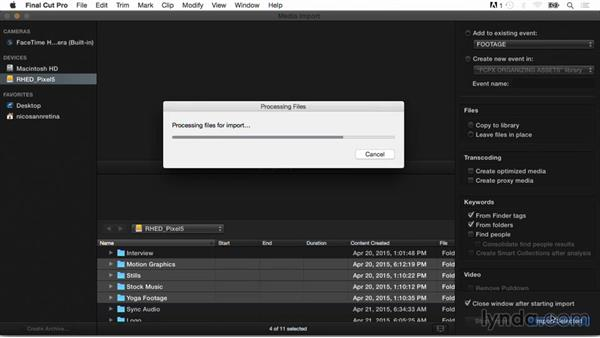 Determining the best import method for your workflow: Final Cut Pro X Guru: Organizing Assets
