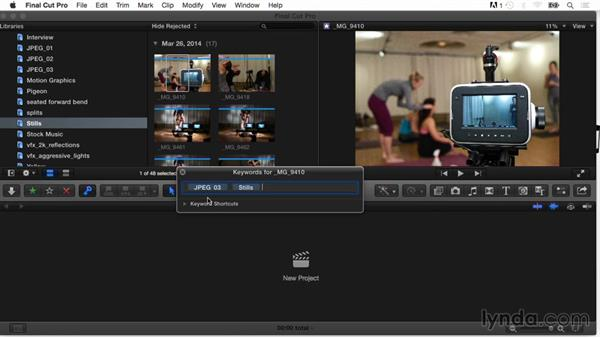 Importing tags and folders as keyword collections: Final Cut Pro X Guru: Organizing Assets