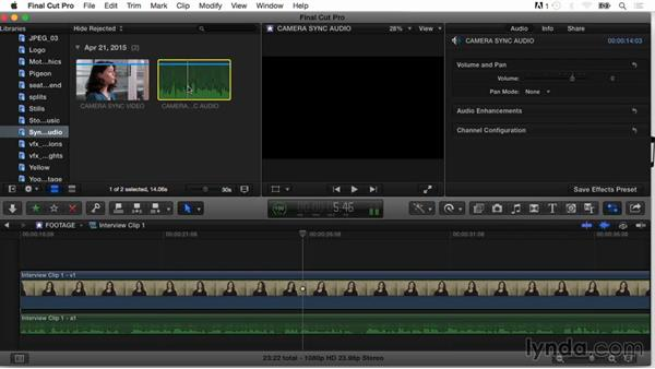 Importing and syncing audio files: Final Cut Pro X Guru: Organizing Assets