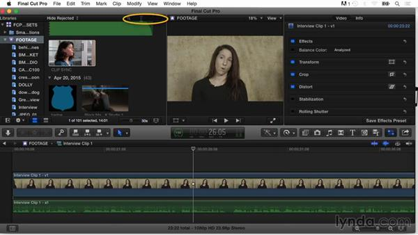 Dragging and dropping files into FCP X and import settings