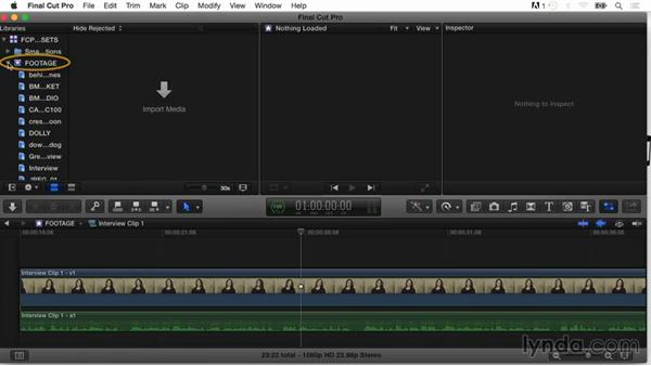 Pre-editing and adding notes: Final Cut Pro X Guru: Organizing Assets
