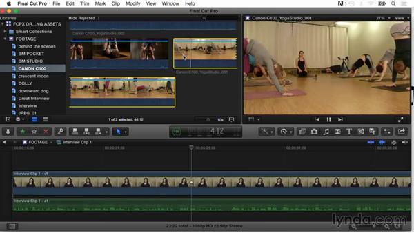 Applying keywords to part of a clip (subclipping): Final Cut Pro X Guru: Organizing Assets