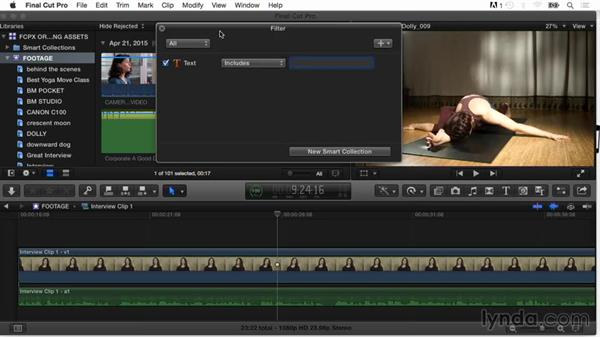 Searching and filtering clips: Final Cut Pro X Guru: Organizing Assets