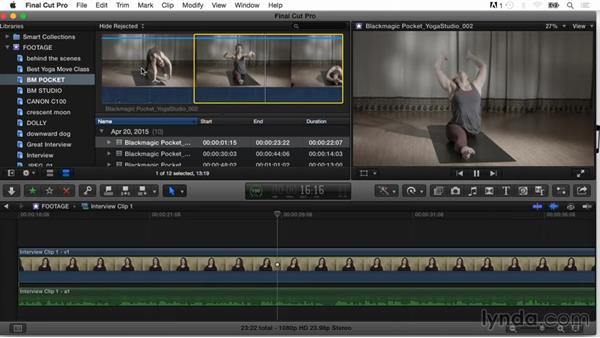 Adding clips to favorites or rejecting clips: Final Cut Pro X Guru: Organizing Assets