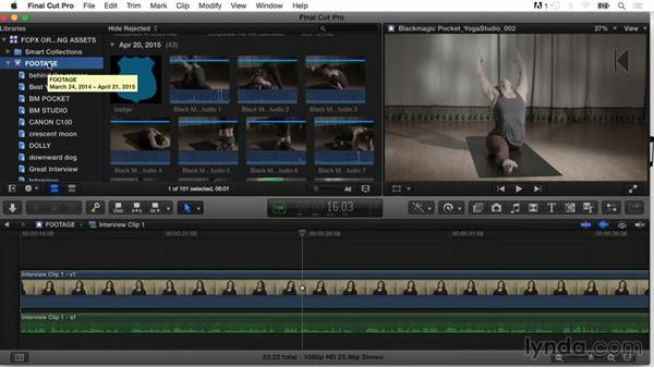 Working with folders: Final Cut Pro X Guru: Organizing Assets
