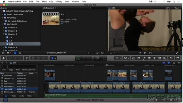 Using the Timeline Index: Final Cut Pro X Guru: Organizing Assets