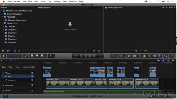 Creating smart collections: Final Cut Pro X Guru: Organizing Assets