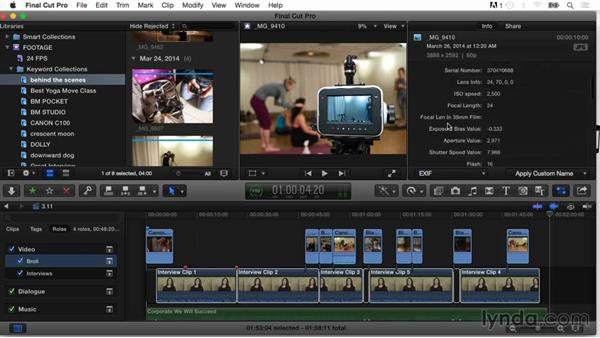 Understanding metadata views: Final Cut Pro X Guru: Organizing Assets