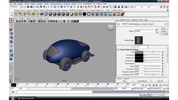 Understand the basics of materials: Maya 2009 Essential Training