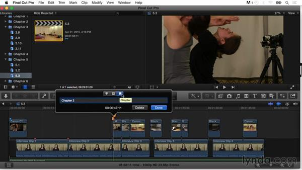 Chapter markers for DVDs: Final Cut Pro X Guru: Organizing Assets