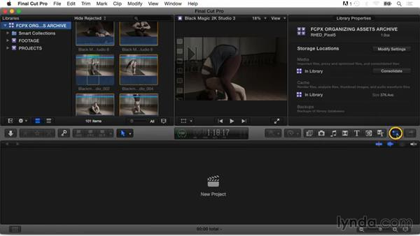 Archiving and moving libraries: Final Cut Pro X Guru: Organizing Assets