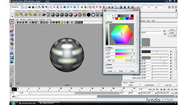 Creating and applying maps: Maya 2009 Essential Training