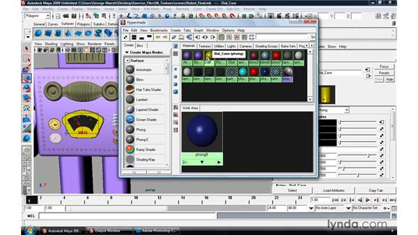 Working with the Hypershade window: Maya 2009 Essential Training