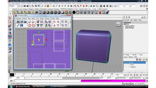 Applying UV mapping: Maya 2009 Essential Training