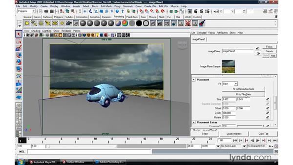 Live action integration with Use Background: Maya 2009 Essential Training