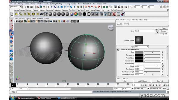 Using displacement and bump mapping: Maya 2009 Essential Training