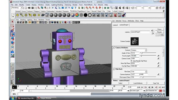 Understanding the basics of cameras: Maya 2009 Essential Training
