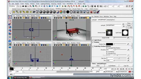 Interactive rendering with IPR: Maya 2009 Essential Training