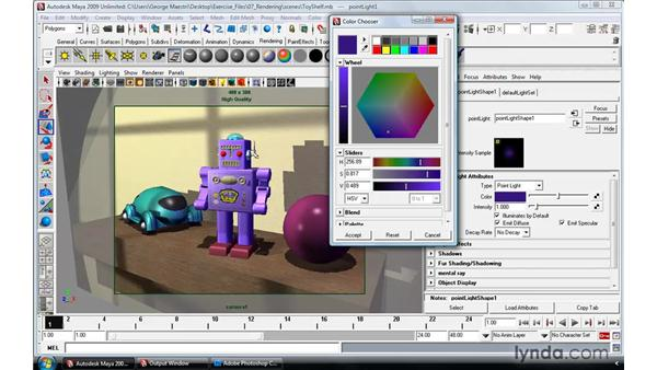 Lighting a scene: The robot: Maya 2009 Essential Training