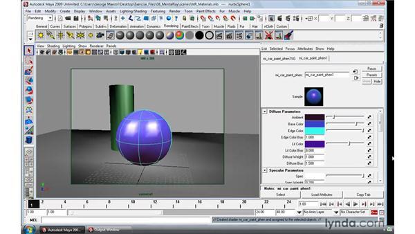 Creating mental ray materials: Maya 2009 Essential Training