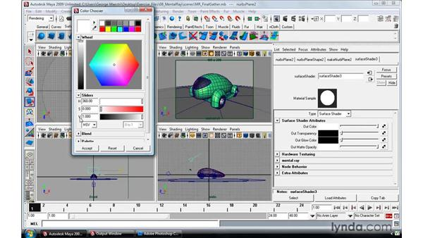 Using Final Gather to enhance global illumination: Maya 2009 Essential Training