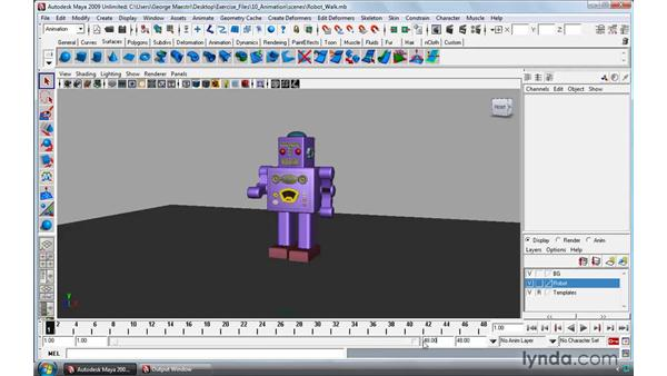 The basics of animation: Maya 2009 Essential Training