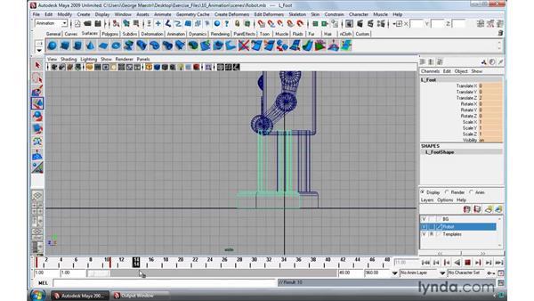 Creating breakdown keys: Maya 2009 Essential Training