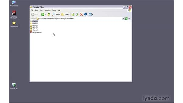 Using the exercise files: Maya 2009 New Features