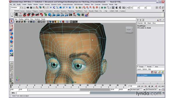 Making multi-component selections: Maya 2009 New Features